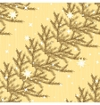 Seamless pattern with fir branches vector image vector image