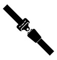 seat belt icon black color flat style simple image vector image vector image