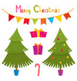 set of cute little christmas elements - christmas vector image vector image
