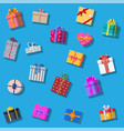 set of gift boxes isolated on white vector image