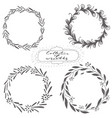 set of hand drawn wreaths vector image vector image