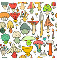 smiling mushrooms seamless pattern for your vector image vector image