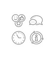 social media likes line icon thumbs up sign vector image vector image