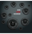 Sound Load Speakers on dark background vector image vector image