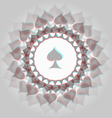 Spades 3d background vector image vector image