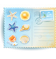 summer postcard with icons vector image