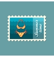 Swimsuit stamp Summer Vacation vector image vector image