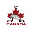 symbols of Canada design template vector image vector image