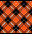 tartan orange pattern seamless background in warm vector image vector image