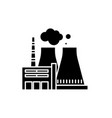 thermal power plant black icon sign on vector image vector image