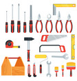 tools for repair and construction vector image vector image