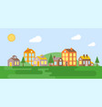urban landscape village in summer flat design vector image