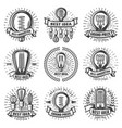vintage energy efficient lightbulbs labels set vector image vector image