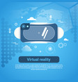 virtual reality concept 3d glasses web banner with vector image