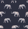 watercolor elephant seamless pattern vector image
