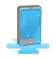 wet smartphone vector image