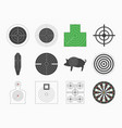 different types board target set vector image