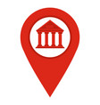 red map pin icon isolated vector image