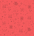 Science line icons background vector image