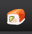 3d sushi roll traditional seaweed fresh raw food vector image vector image