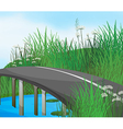 A curve road in the river vector image vector image