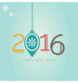 Abstract Happy New Year 2016 hanging ornament vector image