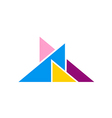 abstract triangle colorful logo vector image
