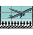airport and queue vector image vector image