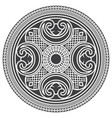 ancient decorative pattern in celtic style vector image vector image