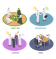 arab people isometric 2x2 concept vector image vector image