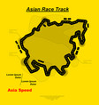asian track background vector image vector image