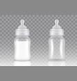 baby milk bottle realistic mock up set vector image vector image