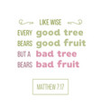 bible quote from matthew good tree bears a good