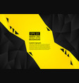 black and yellow color polygon abstract vector image vector image