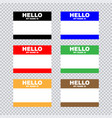 blank template tag my name is set of color blank vector image vector image