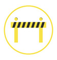 building barrier icon isolated vector image vector image