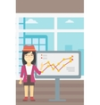 Businesswoman making business presentation vector image