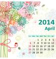 calendar 2014 04 vector image vector image