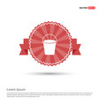 cane icon - red ribbon banner vector image vector image