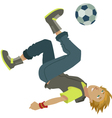 cartoon soccer boy vector image vector image