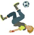cartoon soccer boy vector image vector image