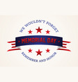 celebration memorial day vector image vector image