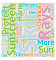Chemical Compounds in Sunscreen text background vector image vector image