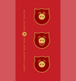 chinese new year 2019 vertical posters vector image vector image