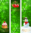 Christmas vertical banners vector image vector image