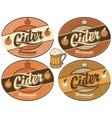 cider label vector image vector image