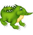cute iguana cartoon posing with smiling vector image