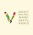 decorative sans serif font vector image
