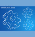 design and manufacture of gears vector image vector image