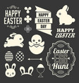 easter design elements include headline vector image vector image